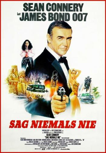 Never Say Never Again German James Bond 007 poster Sean Connery Sag Niemels Nie