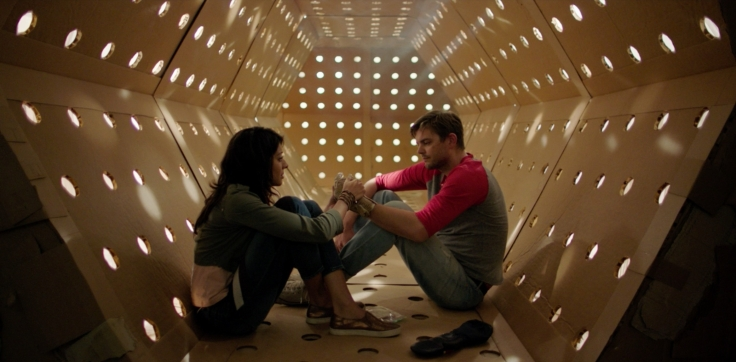 DAVE MADE A MAZE - Meera Rohit Kumbhani and Nick Thune in the Kubrick corridor
