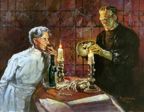 basil-gogos-pretorius-and-the-frankenstein-monster