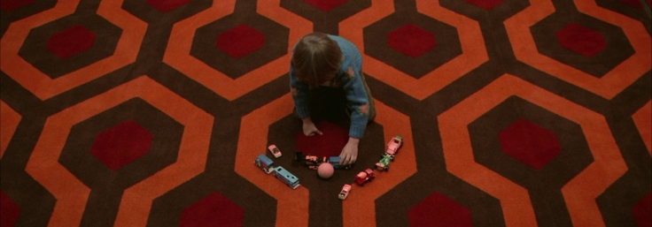 The Shining (1980) Danny plays in the corridors of the Overlook Hotel
