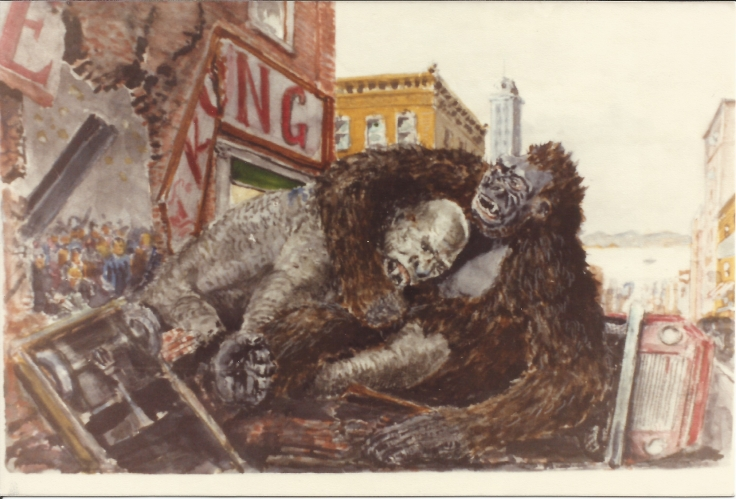 King Kong vs Frankenstein by Willis O'Brien [Mike Hankin Collection]King Kong vs Frankenstein by Willis O'BrienKing Kong vs Frankenstein 3 (1)