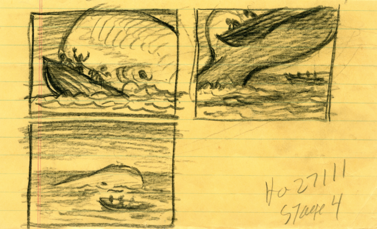 Moby Dick storyboards